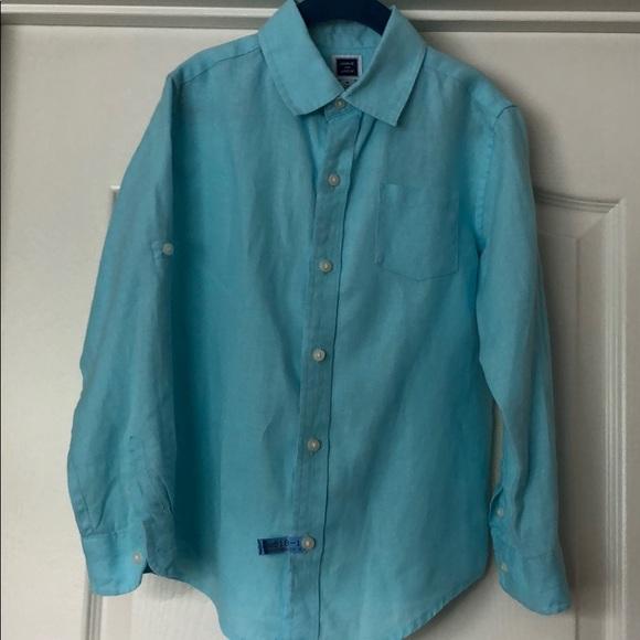ffb38950 Janie and Jack Shirts & Tops | Janie Jack Boys Linen Button Down ...